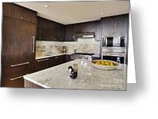 Upscale Kitchen Interior Greeting Card by Andersen Ross