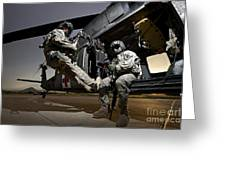 U.s. Air Force Crew Strapped Greeting Card