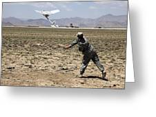 U.s. Army Soldier Launches An Rq-11 Greeting Card