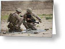U.s. Marines Prepare A Fragmentation Greeting Card