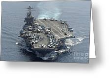 Uss Abraham Lincoln Transits The Indian Greeting Card
