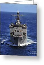 Uss Comstock Transits The Indian Ocean Greeting Card