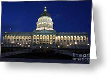Utah Capitol Building At Twilight Greeting Card