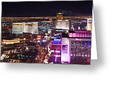 Vegas Strip At Night Greeting Card