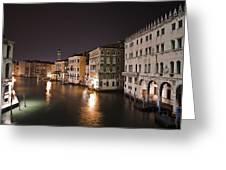Venice By Night Greeting Card by Joana Kruse
