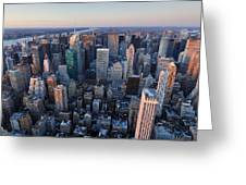 View From Empire State Building Greeting Card