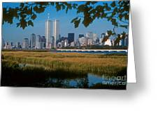 View From Liberty State Park Greeting Card