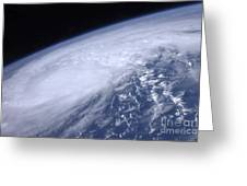 View From Space Of Hurricane Irene Greeting Card