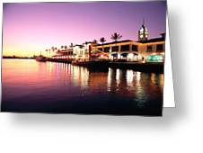 View Of Aloha Tower Greeting Card