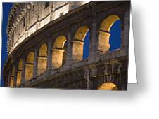 View Of The Roman Coliseum In Rome Greeting Card