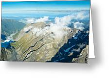 View On To Fox Glacier In South New Zealand Greeting Card
