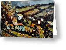 Village In Fall Greeting Card