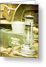 Vintage Lamp Greeting Card