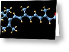 Vitamin A (retinoic Acid) Molecule Greeting Card