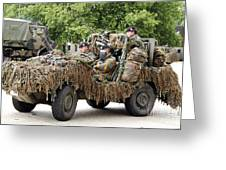Vw Iltis Jeeps Used By Scout Or Recce Greeting Card