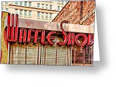 Waffle Shop Greeting Card