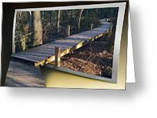 Walk Bridge Greeting Card