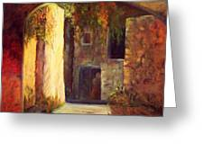 Walled Village Greeting Card