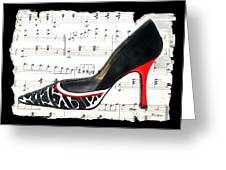 Waltzing Pumps Greeting Card