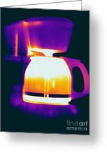Warming Coffee Machine Greeting Card