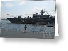 warship in Peterburg Greeting Card