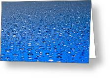 Water Drops On A Shiny Surface Greeting Card