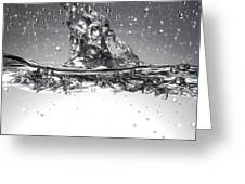 Water, High-speed Photograph Greeting Card