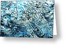 Water In A Pool Which Lock Like A Frozen Water Stream Of A River Greeting Card