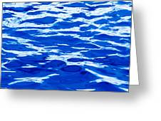 Blue Water Greeting Card