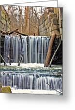 Waterfalls At Old Erie Canal Locks Greeting Card