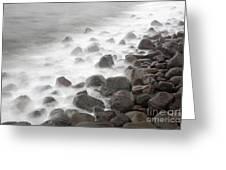 Waves Hitting The Shore Greeting Card