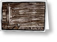 Weathered Wall In Bodie Ghost Town Greeting Card