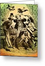 Weightlessness, 19th Century Greeting Card
