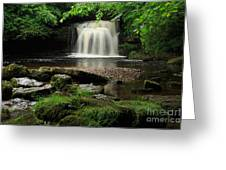 West Burton Falls In Wensleydale Greeting Card