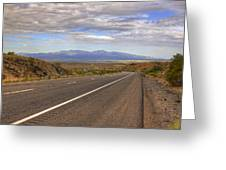 West Into California Greeting Card