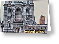 Westminster Abbey And  Victoria Tower Greeting Card