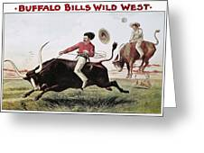 W.f. Cody Poster, C1885 Greeting Card