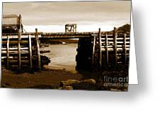 Wharf At Low Tide Greeting Card