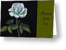 White Rose Invitation Card Greeting Card