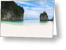 White Sandy Beach In Thailand Greeting Card