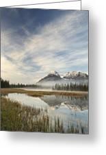 Whitegoat Lake And Mount Elliot Greeting Card
