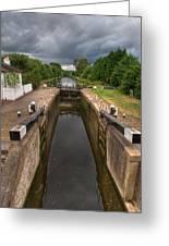 Wide Water Lock Greeting Card