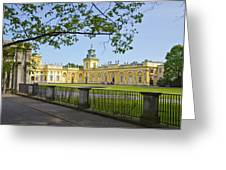 Wilanow Palace - Warsaw Greeting Card