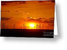 Wind Turbines Greeting Card by Gabriela Insuratelu
