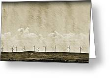 Windmills In A Row Greeting Card