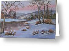 Winter In The Country Greeting Card