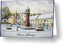 Winter In Twyn Square Greeting Card