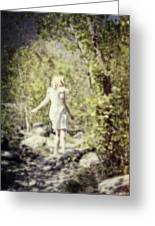 Woman In A Forest Greeting Card