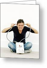Woman Joking While Doing Diy Greeting Card