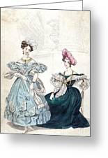 Womens Fashion, 1833 Greeting Card by Granger